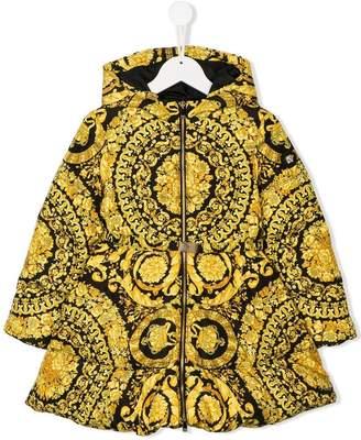 Versace baroque print padded coat