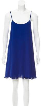 Aqua Sleeveless Plisse Dress