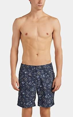 Onia Men's Calder Constellation-Print Swim Trunks - Navy