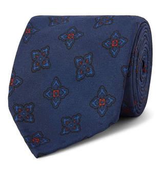 Rubinacci 7.5cm Floral-Print Silk-Faille Tie