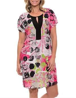 Mural Yarra Trail Short Sleeve Print Dress