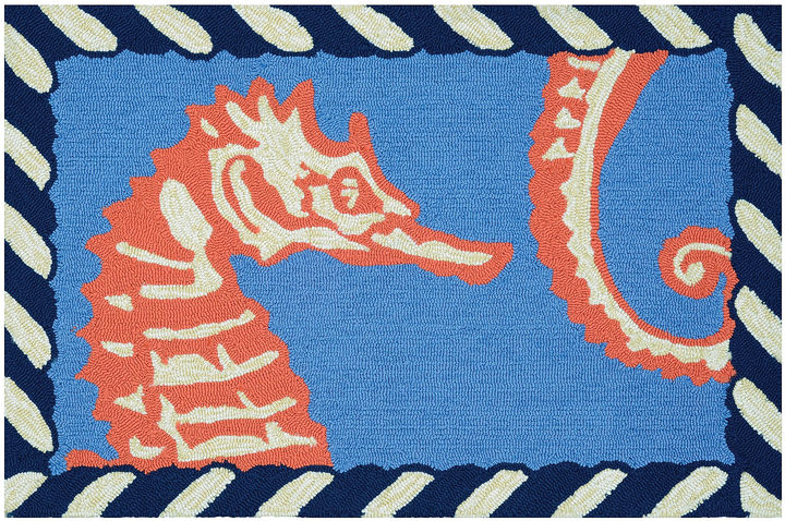 CouristanCouristan Horsing Around Hooked Rectangle Accent Rug