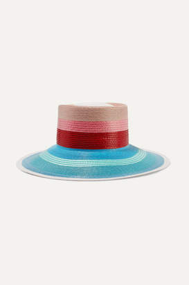Missoni Striped Faux Straw Sunhat - Red