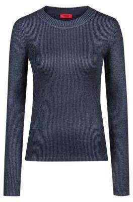 HUGO Boss Rib-knit sweater faded effects S Open Blue