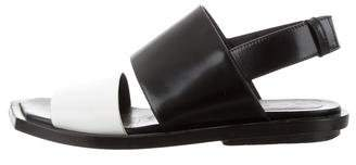 Marni Leather Buckle Strap Sandals