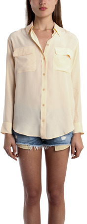 Equipment Signature Blouse in Apricot