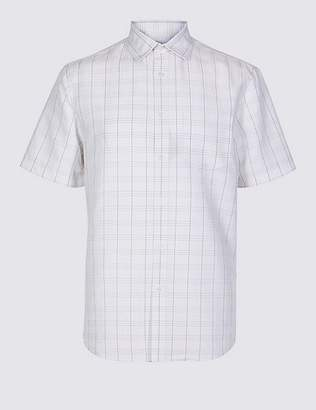 Marks and Spencer Modal Rich Checked Shirt with Pocket