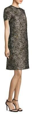 Escada Metallic Jacquard Shift Dress