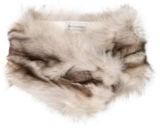 Pologeorgis Silk-Lined Fox Fur Scarf