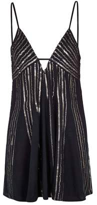 Free People Here She Is Sequin-embellished Mini Dress