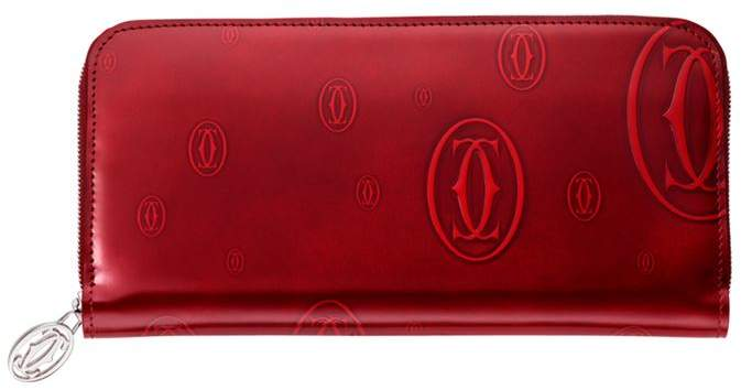 Happy Birthday Leather Zip-Around Wallet