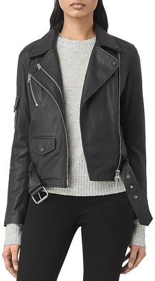 ALLSAINTS Harland Leather Biker Jacket $595 thestylecure.com