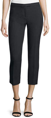 Peserico Suiting Cropped Pants, Charcoal $320 thestylecure.com