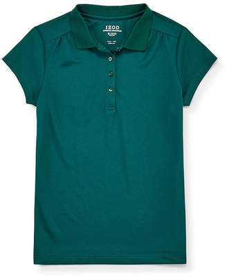 Izod EXCLUSIVE Exclusive Girls Spread Collar Short Sleeve Moisture Wicking Polo Shirt