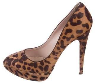 Miu Miu Ponyhair Leopard Pumps