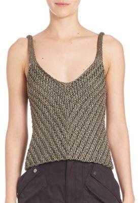 Helmut LangHelmut Lang Silk Sleeveless Knit Top