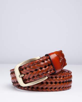 RUMI Braided Tan Leather Belt