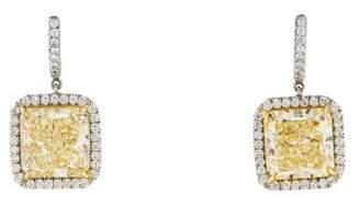 Yellow Diamond Frame Earrings