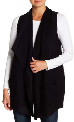 Modern Designer Drape Front Knit Vest