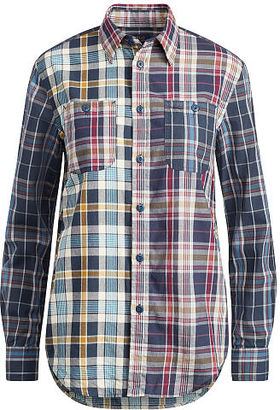 Polo Ralph Lauren Relaxed Cotton Madras Shirt $145 thestylecure.com