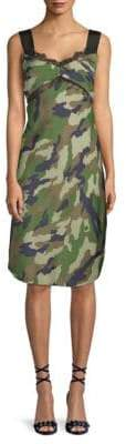 KENDALL + KYLIE Camouflage-Print Slip Dress
