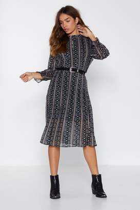 Nasty Gal It's a Long Story Floral Dress
