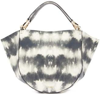 Wandler Mia Tie Dye Leather Tote Bag - Womens - Grey White