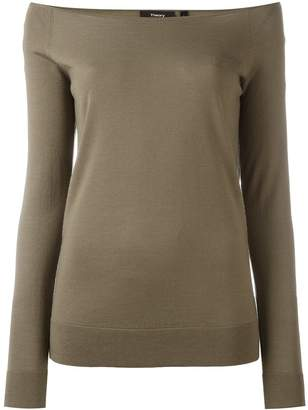 Theory boat neck jumper