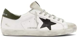 Golden Goose Deluxe Brand - Superstar Distressed Leather Trainers - Mens - White Black