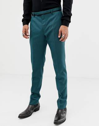 Twisted Tailor super skinny suit pants in two tone geo