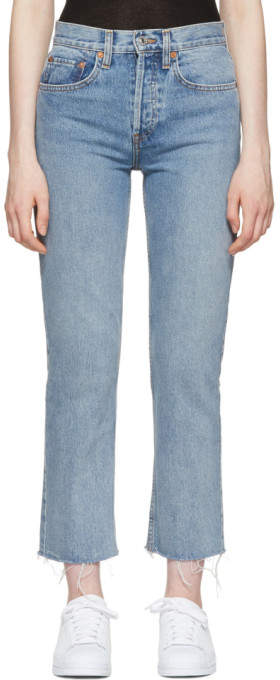 Re-done Blue Originals High-rise Stovepipe Jeans