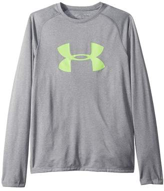 Under Armour Kids Big Logo Long Sleeve Tee Boy's T Shirt