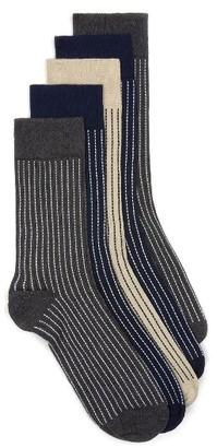 Men's Topman Assorted 5-Pack Stripe Socks $25 thestylecure.com