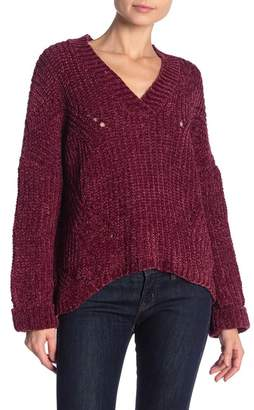 Cotton Emporium V-Neck Chenille Sweater