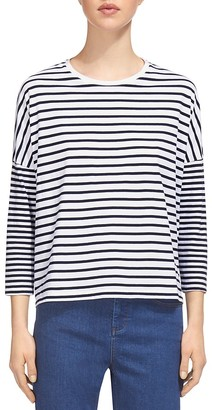 Whistles Mixed Stripe Top $110 thestylecure.com
