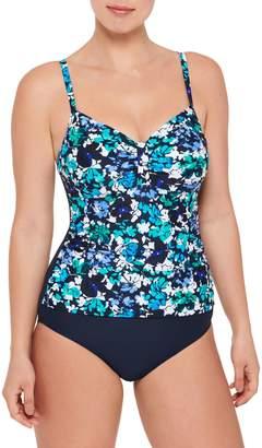 Christina Blue Floral One-Piece Swimsuit