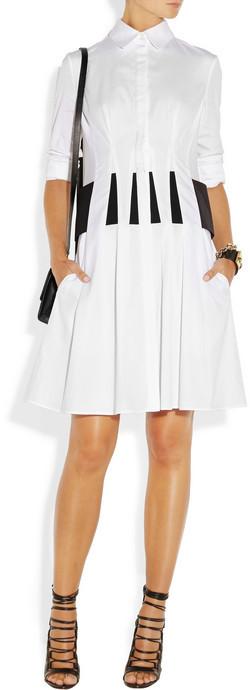 Thakoon Pleated cotton-poplin shirt dress