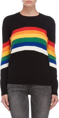 Romeo & Juliet Couture Romeo + Juliet Couture Black Rainbow Stripe Sweater