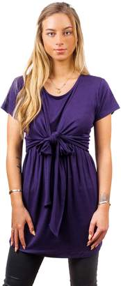 Blend of America sofsy Soft-Touch Rayon Tie Front Nursing & Maternity Fashion Top