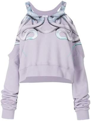 Marcelo Burlon County of Milan Snake cut-detail sweatshirt