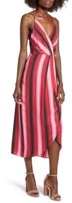 WAYF Stevie Stripe Wrap Dress