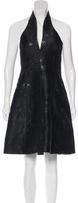 Halston Brocade Cocktail Dress w/ Tags