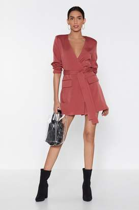 Nasty Gal Wrapped Up in You Blazer Dress