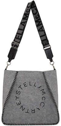 Stella McCartney Grey Mini Eco Felt Shoulder Bag