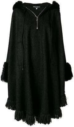 Dolce & Gabbana fur trim cape