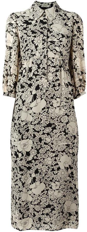 Saint LaurentSaint Laurent floral print shirt dress
