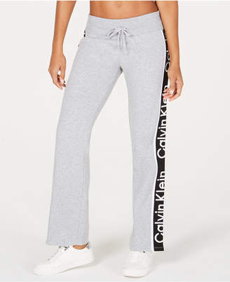 Calvin Klein Logo High-Rise Flared-Leg Joggers
