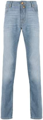 Jacob Cohen stonewashed straight leg jeans