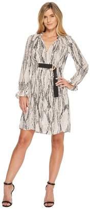 Ellen Tracy Georgette Printed Shirt Dress Women's Dress