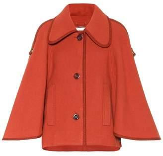 Chloé Wool cape jacket with adjustable sleeves